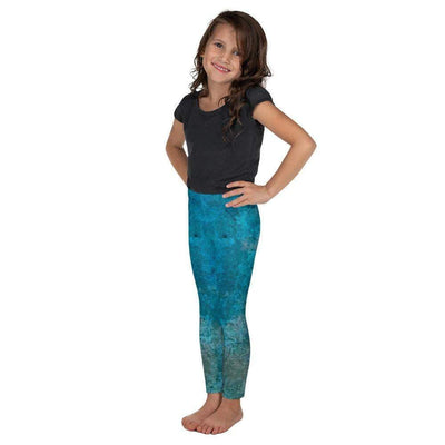 Turquoise Marble Kid's Leggings | Submission Shark - tamlifestyle