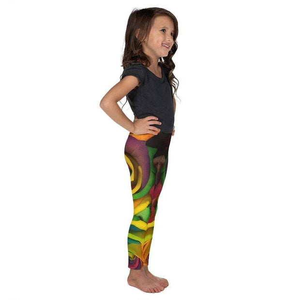 Rainbow Roses Kid's Leggings | Submission Shark Right