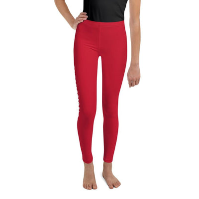 Red SS Premium Standard - Youth BJJ Leggings