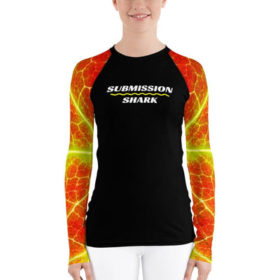 Phoenix Arise ~ Women's Yellow and Orange BJJ Rash Guard