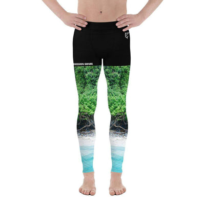Tropical Shores | Men's Leggings | Submission Shark - tamlifestyle