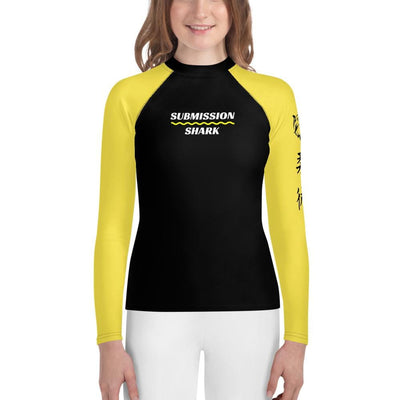 Yellow SS Premium Standard - Youth Jiu Jitsu Rash Guard