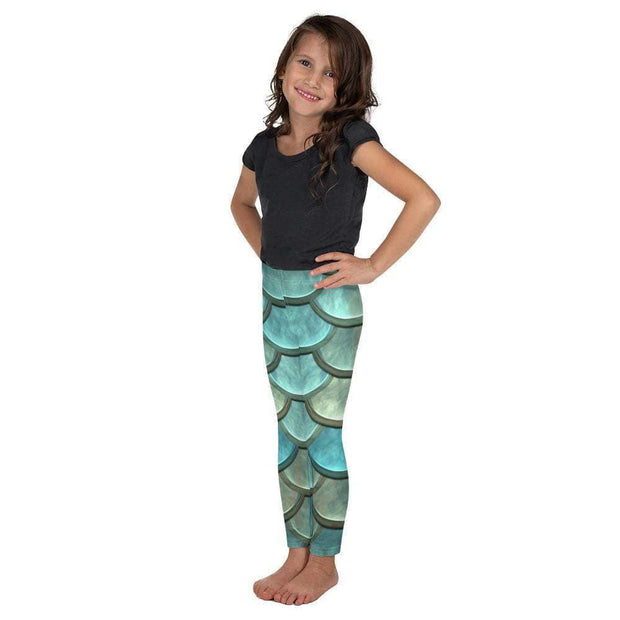 Mermaid Maiden Kid's Leggings | Submission Shark Left