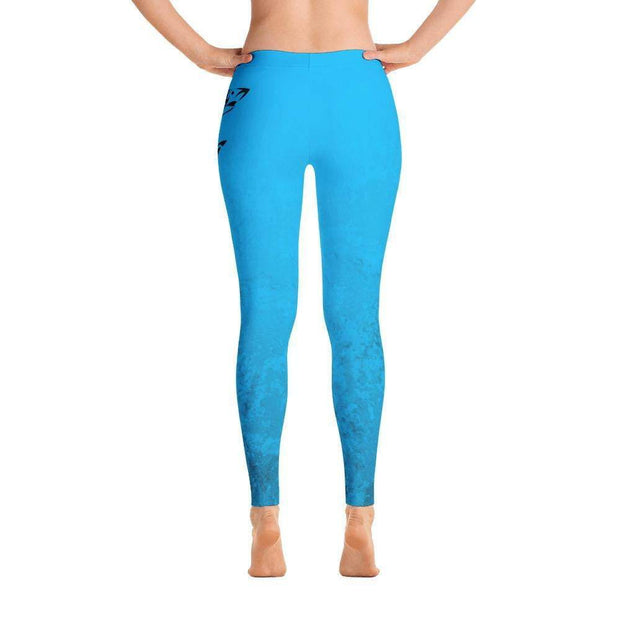 Blue Marble Leggings | Submission Shark back