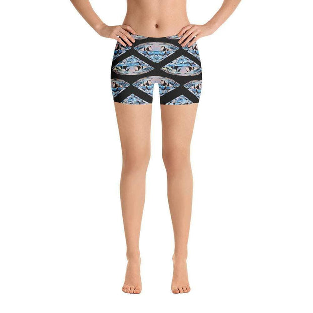 Diamonds Last Forever Sports Shorts | Submission Shark Front