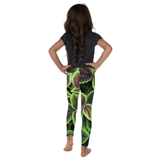 Glowing Growing Green Kid's Leggings | Submission Shark Back