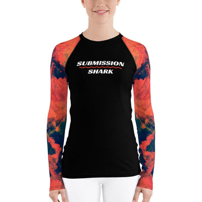 Women's Rash Guard Orange BJJ Gear