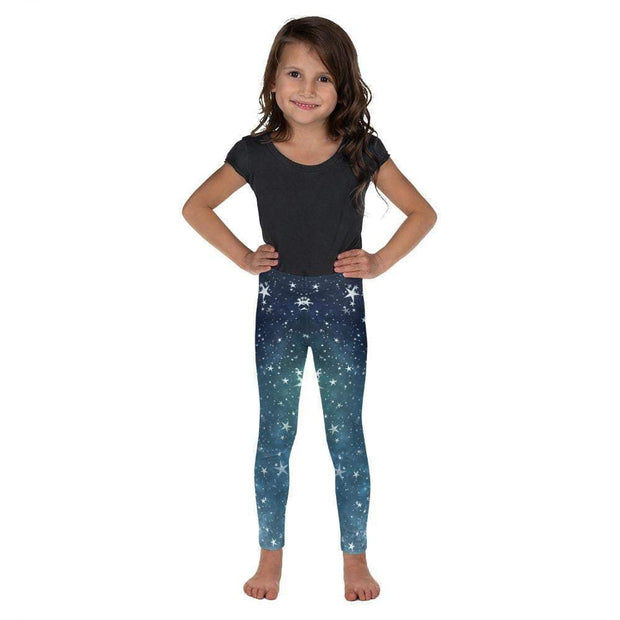 Space Stars Kid's Leggings | Submission Shark Front