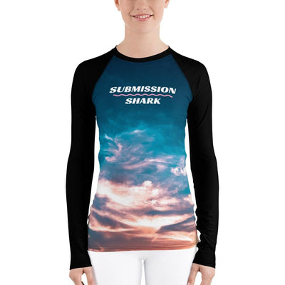 Women's BJJ Rash Guard (Aquatic Skies)