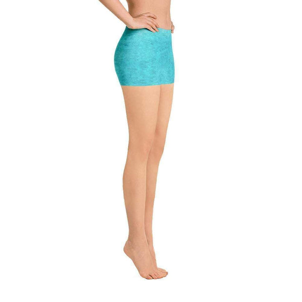 Turquoise Love Sports Shorts | Submission Shark Right