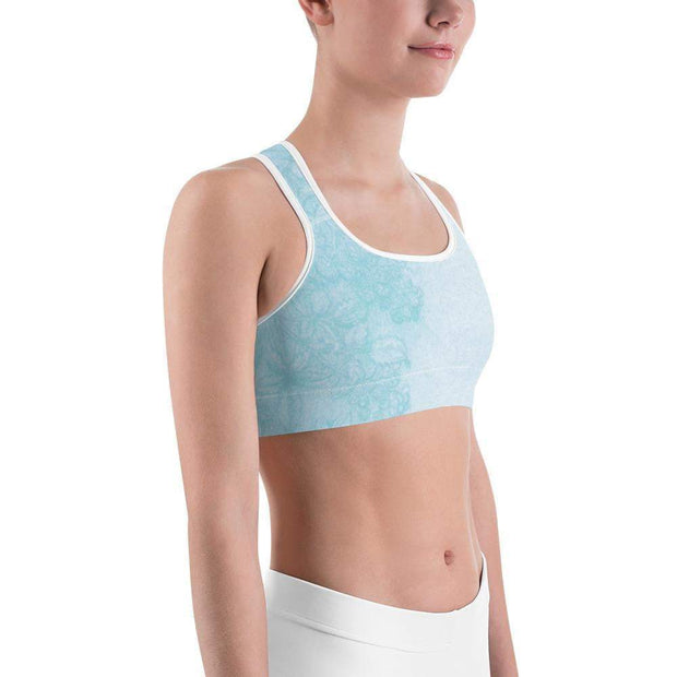 Baby Blue Beauty Sports bra | Submission Shark Right
