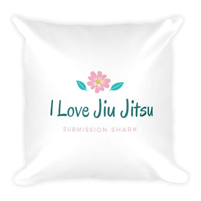 """I Love Jiu Jitsu"" Square Pillow - tamlifestyle"