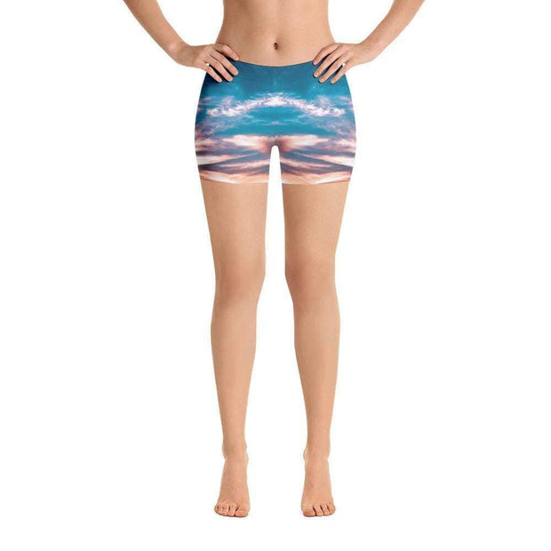 Aquatic Skies Sports Shorts | Submission Shark Front