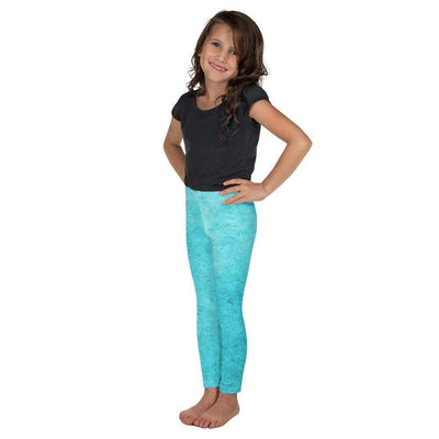 Turquoise Love Kid's Leggings | Submission Shark - tamlifestyle