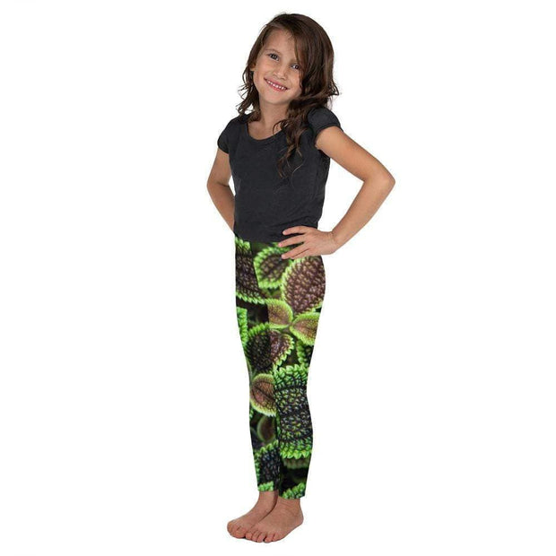Glowing Growing Green Kid's Leggings | Submission Shark Left
