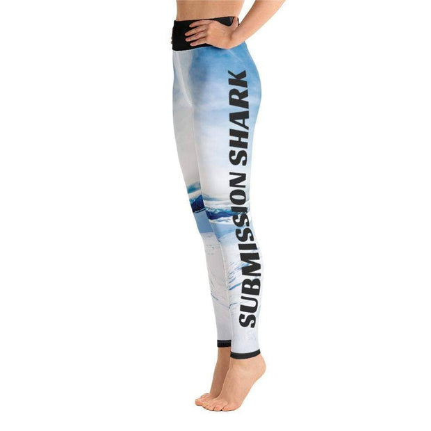 Tundra Avalanche Yoga Leggings | Submission Shark Left