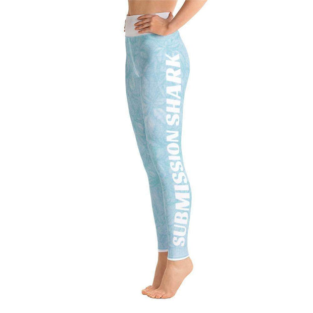 Baby Blue Beauty Yoga Leggings | Submission Shark Left