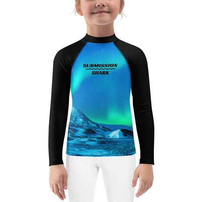 Cosmic Aurora ~ Kids BJJ Rash Guard