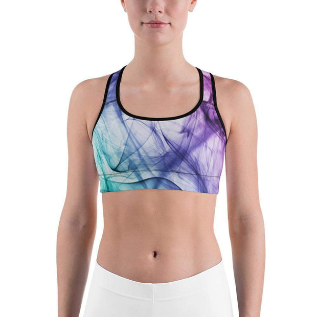 Euphoric Vapor Sports bra | Submission Shark Black Front