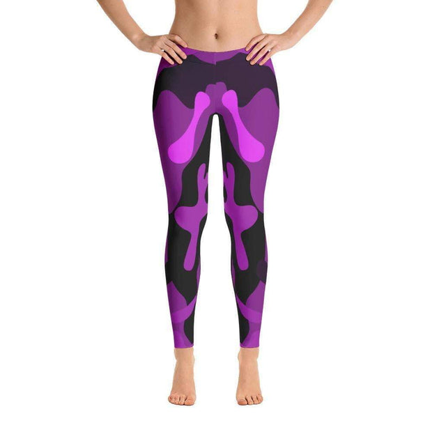 Ranked 1.0 Unisex Compression Pants (Purple) | Submission Shark Spats Front