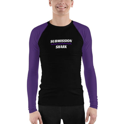 Purple SS Premium Standard ~ Men's No-Gi BJJ Rash Guard