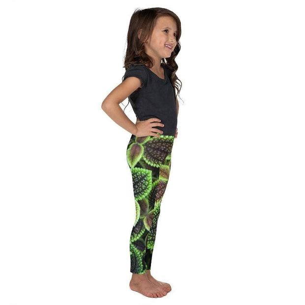 Glowing Growing Green Kid's Leggings | Submission Shark Right