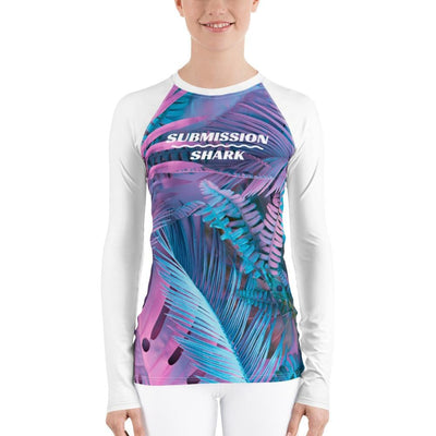Pink and Blue Women's Rash Guard (Cotton Candy)