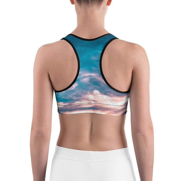 Aquatic Skies Sports bra | Submission Shark Back