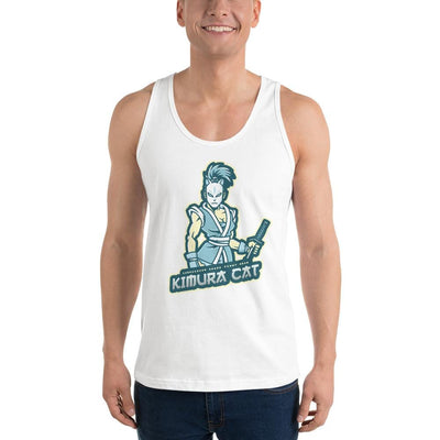 Kimura Cat Premium White Tank Top (Martial Arts Clothing)
