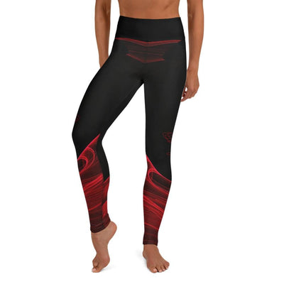 High Waist Red BJJ Spats (Calm Blaze)