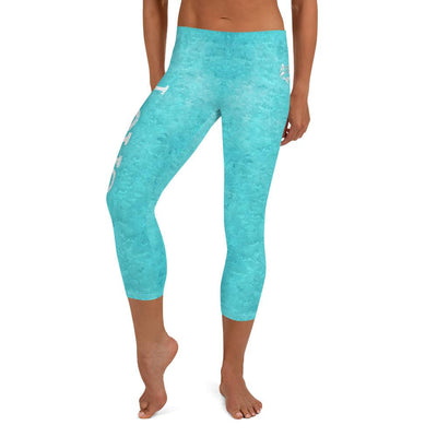 Turquoise Love Capri BJJ Leggings