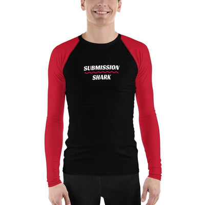 Shop Men's BJJ Rash Guard (Red SS Premium Standard)