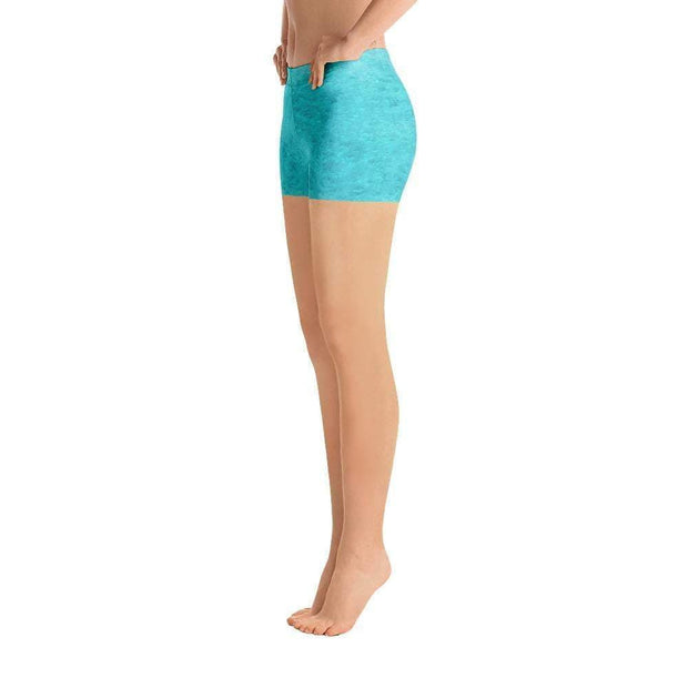 Turquoise Love Sports Shorts | Submission Shark Left