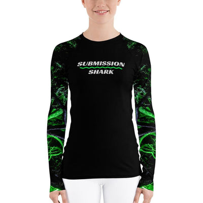 Green Forest Glow ~ Women's BJJ Rash Guard