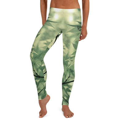 Women's BJJ Leggings (Legalize Leaf)
