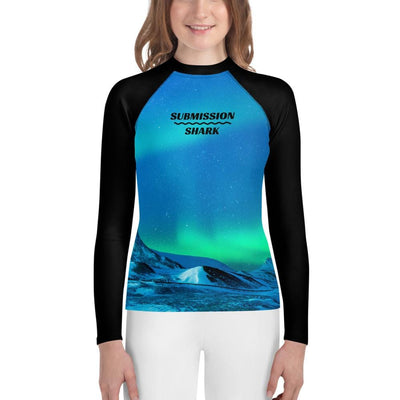 Cosmic Aurora - Youth Jiu Jitsu Rash Guard (Submission Shark)