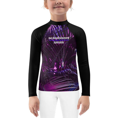 Kid's BJJ Rash Guard (Lavender Paradise)