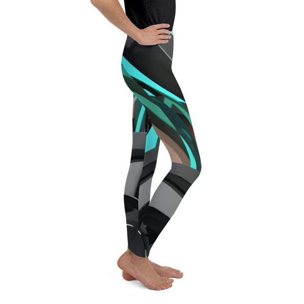 Cyborg Youth Leggings | Submission Shark Right