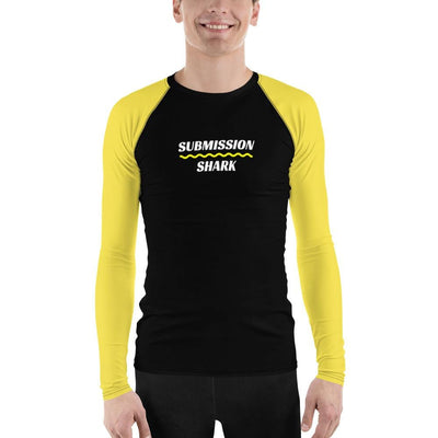 Yellow SS Premium Standard ~ Men's BJJ Rash Guard