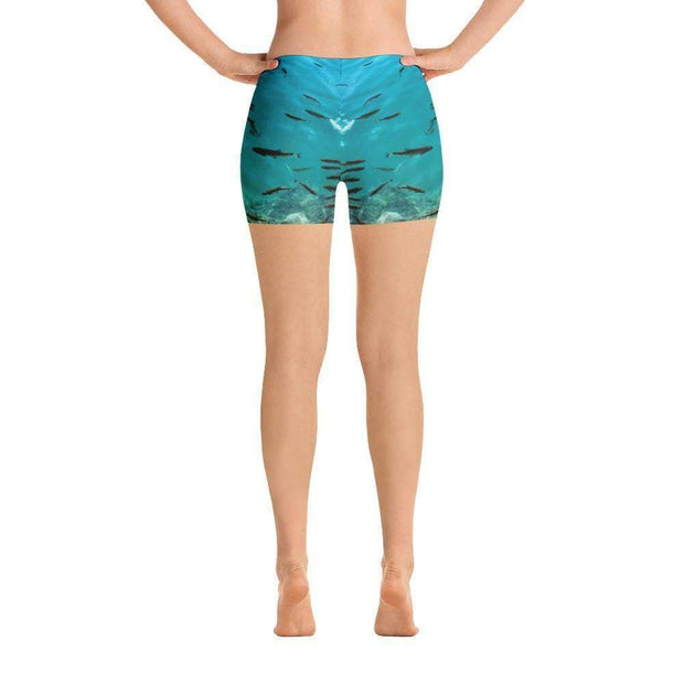 Fish's Paradise Sports Shorts | Submission Shark Back