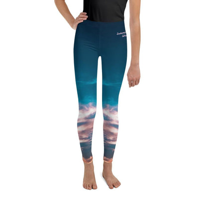 Aquatic Skies Youth BJJ Leggings