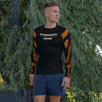 Ranked 1.0 Compression Shirt (Brown) | Submission Shark Rashguard