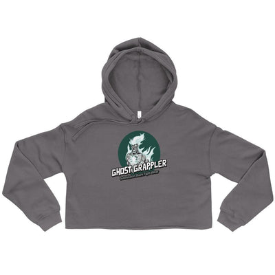 Ghost Grappler Grey BJJ Crop Hoodie