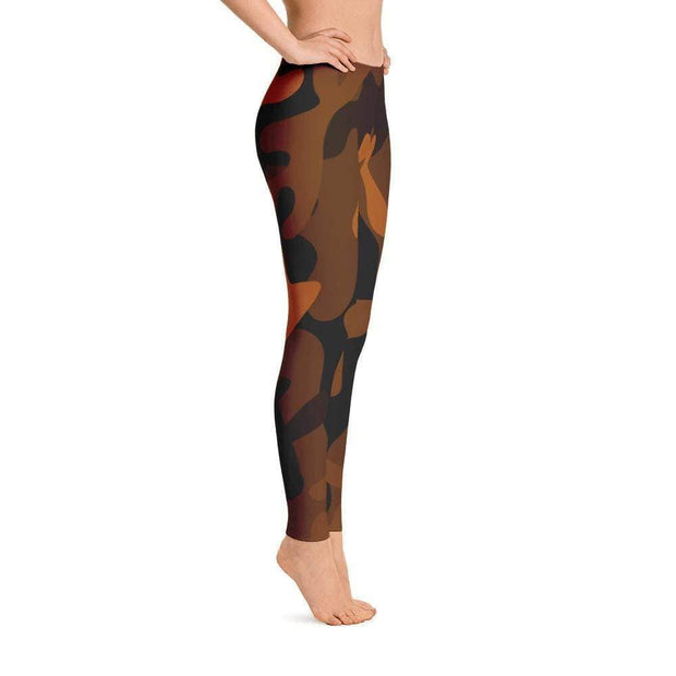 Ranked 1.0 Unisex Compression Pants (Brown) | Submission Shark Spats Right