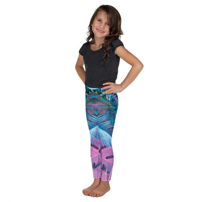 Cotton Candy Crush Kid's Pink and Blue Leggings
