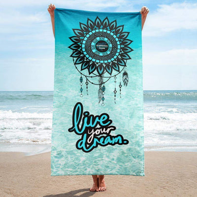 """Live Your Dream"" Beach Towel - tamlifestyle"