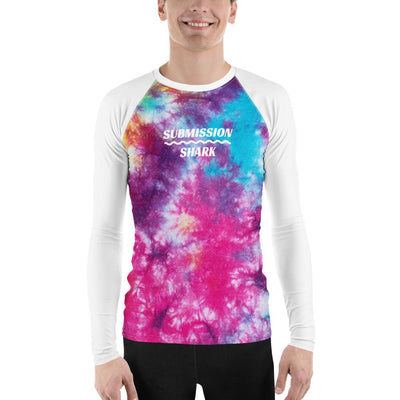 Men's Colorful Tye Dye BJJ Rash Guard