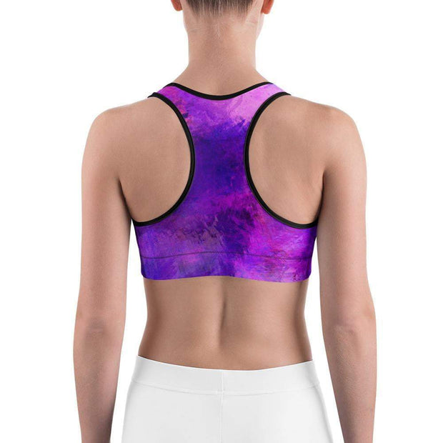 Violet Psionic Sports bra | Submission Shark Back
