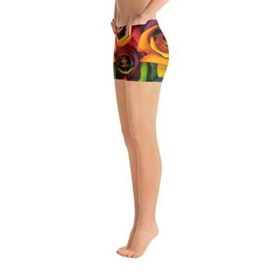 Rainbow Roses Sports Shorts | Submission Shark Left