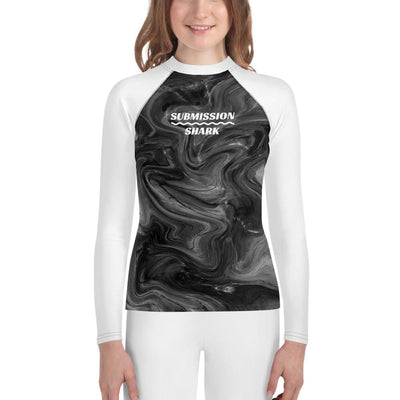 Monochrome Madness - Submission Shark Unisex Youth Rash Guard